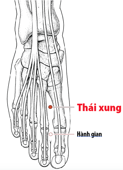 Huyệt Thái xung